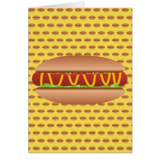 Hotdog picture card