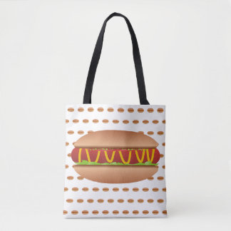 Hotdog picture tote bag