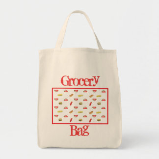 Hotdogs and Hamburgers Grocery Tote Bag