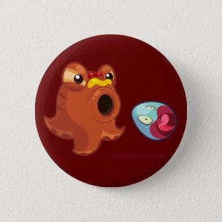 Hotdogtopus Hotdog Octopus with Ketchup & Mustard 2 Inch Round Button