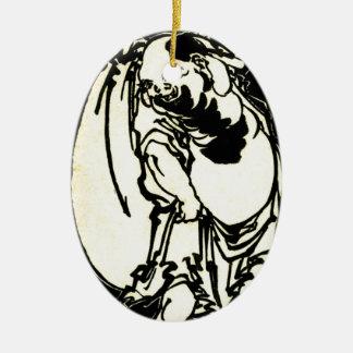 Hotei by Katsushika, Hokusai Ukiyo-e Ceramic Ornament