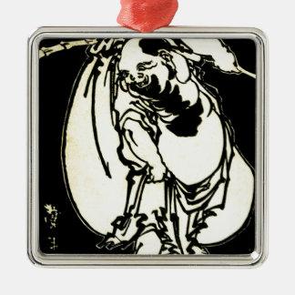 Hotei by Katsushika, Hokusai Ukiyo-e Metal Ornament