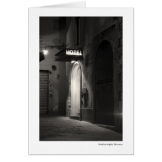Hotel at Night, Florence Card