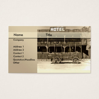 hotel \ bed and breakfast \ hostel business card