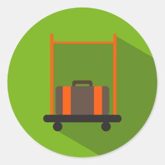 Hotel Bellman Luggage Cart Icon Sticker