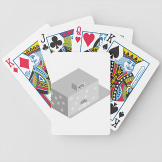 Hotel Building Bicycle Playing Cards