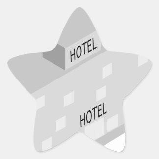 Hotel Building Star Sticker