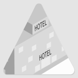 Hotel Building Triangle Sticker