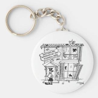 Hotel Cartoon 3442 Keychain