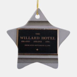 Hotel Ceramic Star Ornament