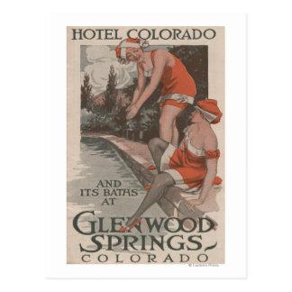 Hotel Colorado & Baths Poster Postcard