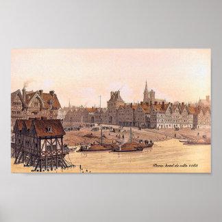 Hotel de ville Paris 1583 poster