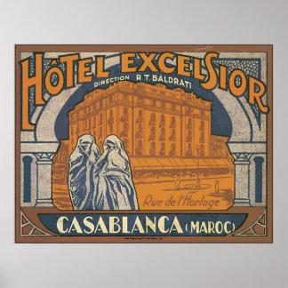 Hotel Excelsior Casablanca (Maroc), Vintage Poster