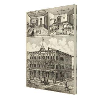 Hotel Hicks, Stockton, Kansas Canvas Print