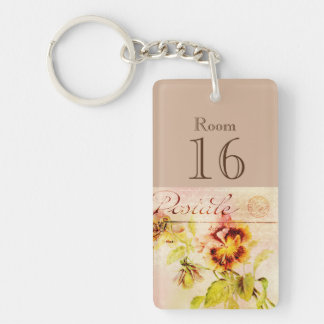 Hotel lodge resort room key (double sided) keychain