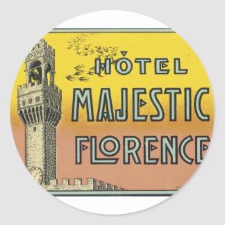 Hotel Majestic Florence Round Sticker