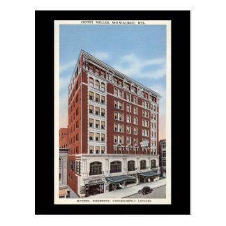 Hotel Miller, Milwaukee WI Vintage Postcard