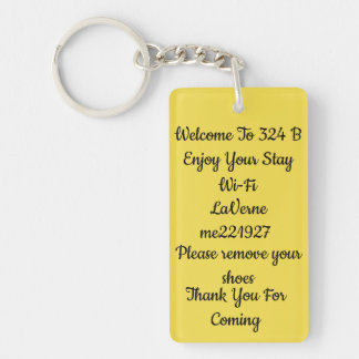 Hotel or a BNB Key tag for your guest Keychain