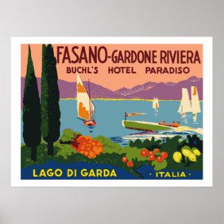 Hotel Paradiso (Lago di Garda - Italia) Poster