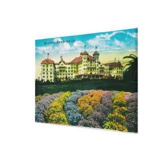 Hotel Potter and Grounds Stretched Canvas Print
