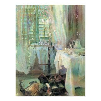 Hotel Room by Sargent, Vintage Victorian Fine Art Postcard