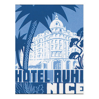 Hotel Ruhl Nice Vintage Travel Poster Postcard