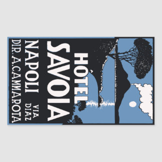 Hotel Savoia (Napoli - Italy) Vector format Sticker