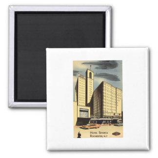Hotel Seneca, Rochester NY Vintage Square Magnet