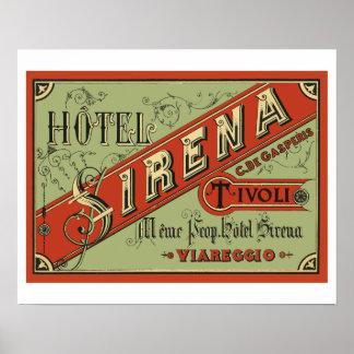 Hotel Sirena (Tivoli - Italy) Poster