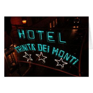 Hotel Trinita Del Monti Note Card