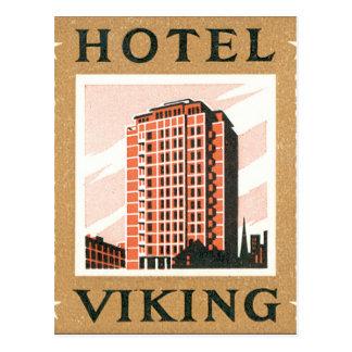 Hotel Viking Oslo Norway Vintage Travel Poster Postcard