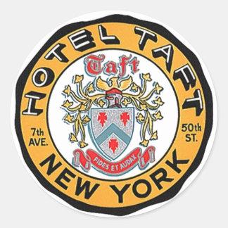 Hôtel vintage Taft des autocollants NYC NY de baga