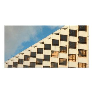 Hotel windows photo card template