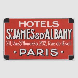 Hotels St james & d'Albaby (Paris France) Sticker