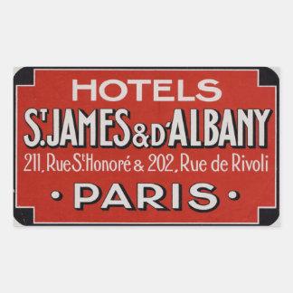 Hôtels St James et d'Albaby (Paris France) Sticker Rectangulaire