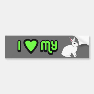 Hotot Rabbit Bumper Sticker