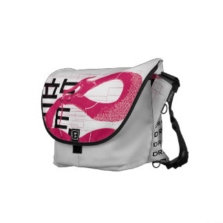 Hotpink Dragon Japanese Dragon White Background Commuter Bags
