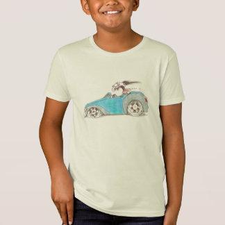 Hotrod Cartoon on Kids T-Shirt