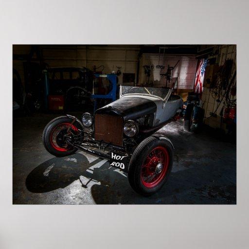 Hotrod in a Garage Print/Poster