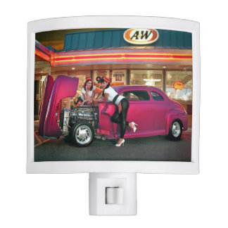 Hotrod Retro Neon Diner Classic Car Hop PinUp Girl Nite Light