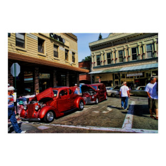 Hotrods on Main Street Posters