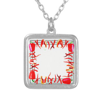 Hots and sweets #13 silver plated necklace