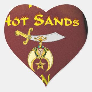 HOTSANDS HEART STICKER
