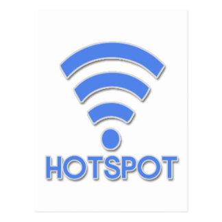 Hotspot Wifi Person Postcard