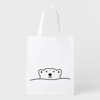 < hotsukiyokuguma which is excluded > Looking Reusable Grocery Bag