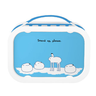 < hotsukiyokuusaki ゙ > Arctic hares Lunch Box