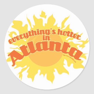 Hotter in Atlanta Classic Round Sticker