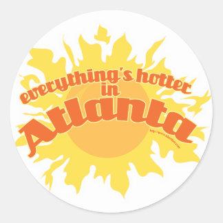 Hotter in Atlanta Round Sticker