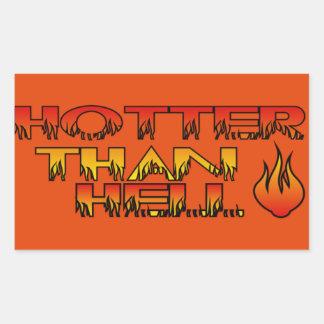 Hotter Than Hell Sticker