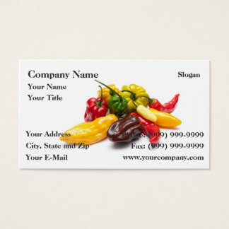 Hottest chilies business card